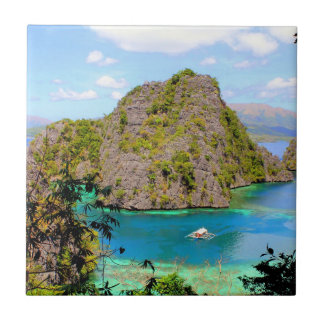 Kayangan Lake Travel Small Square Tile