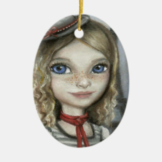 Kayla in Paris Christmas Ornament