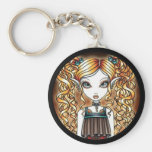 """""""Kayla"""" Steampunk Fairy Close Up Key Chain"""