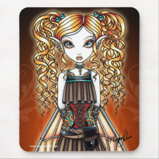 """Kayla"" Steampunk Fairy Close Up Mouspad Mouse Mat"