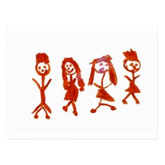 Kaylee My Family 2013 Art1a Hoboken The MUSEUM Zaz Postcard