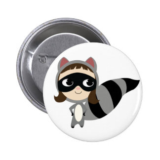 Kaylee the Raccoon 6 Cm Round Badge