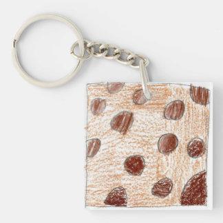 Kayli Single-Sided Square Acrylic Key Ring