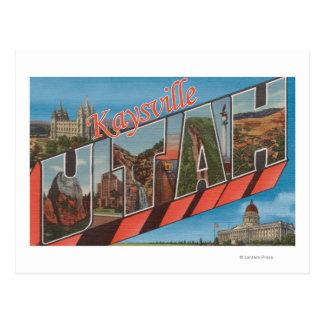 Kaysville, Utah - Large Letter Scenes Postcard