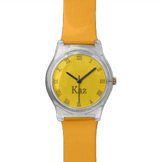 KAZ Name-Branded Customizable Wrist Watch Gift