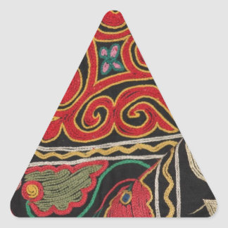 Kazakh Pattern Triangle Sticker