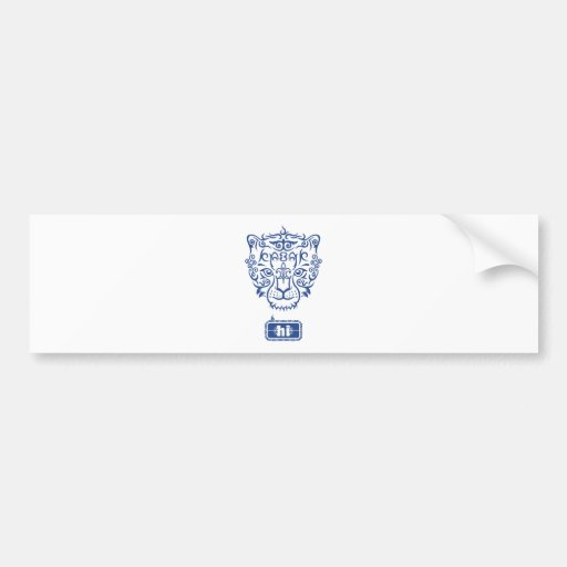 Kazakh style with snow leopard pattern bumper stickers