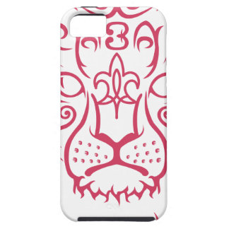 Kazakh style with snow leopard pattern tough iPhone 5 case
