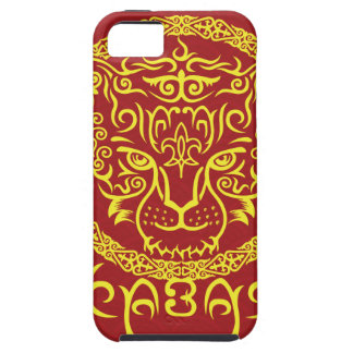 Kazakh style with snow leopard pattern iPhone 5 covers