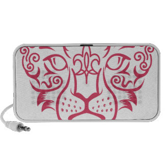 Kazakh style with snow leopard pattern PC speakers