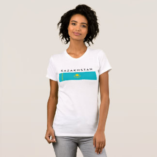 Kazakhstan country long flag nation symbol republi T-Shirt