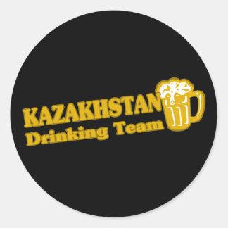 Kazakhstan Drinking Team Classic Round Sticker