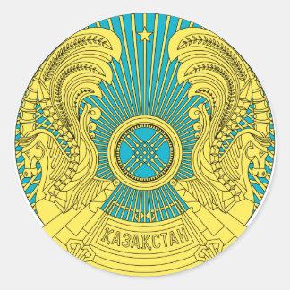 kazakhstan emblem classic round sticker