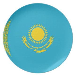 Kazakhstan Fisheye Flag Plate