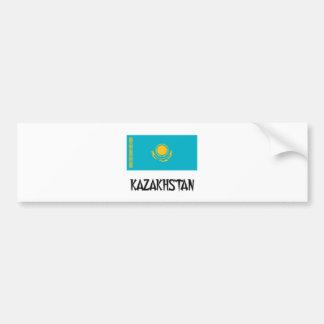 Kazakhstan Flag Bumper Sticker