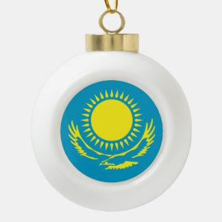 Kazakhstan Flag Ceramic Ball Decoration