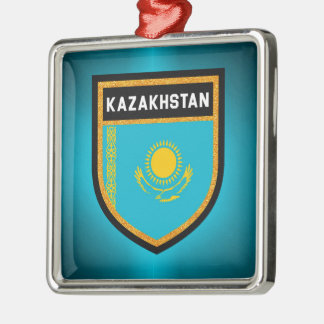 Kazakhstan Flag Christmas Ornament