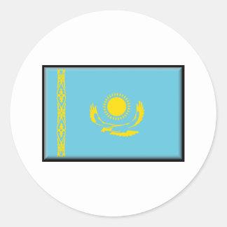 Kazakhstan Flag Classic Round Sticker