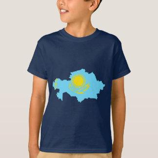 Kazakhstan flag map T-Shirt