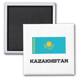 Kazakhstan Flag Square Magnet
