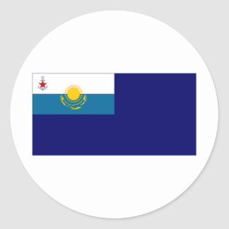 Kazakhstan Government Ensign Round Sticker