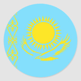 Kazakhstan High quality Flag Classic Round Sticker