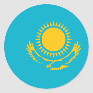 Kazakhstan, Kazakhstan flag Classic Round Sticker