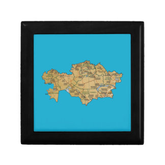 Kazakhstan Map Gift Box