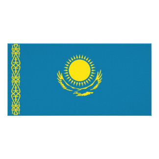 Kazakhstan National Flag Photo Cards