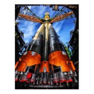 Kazakhstan rocket postcard