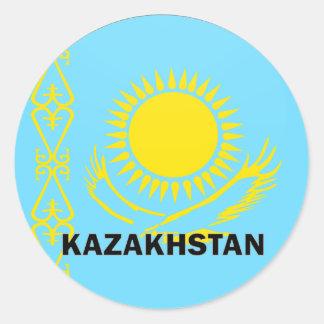 Kazakhstan Roundel quality Flag Classic Round Sticker