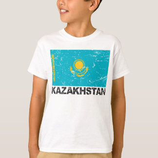 Kazakhstan Vintage Flag T-Shirt
