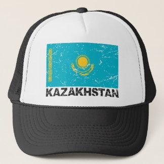 Kazakhstan Vintage Flag Trucker Hat