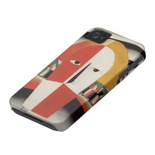 Kazimir Malevich- Head of a Peasant iPhone 4 Covers