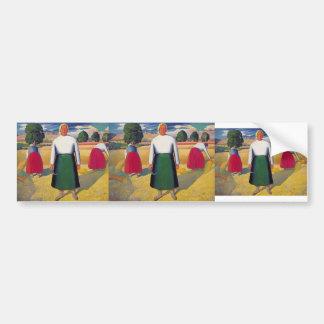 Kazimir Malevich- Reapers Bumper Sticker