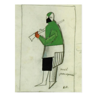 Kazimir Malevich- Someone Wicked Postcard