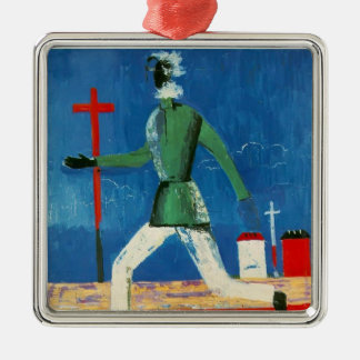 Kazimir Malevich- The Running Man Christmas Tree Ornaments