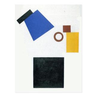 Kazimir Malevich- Two Dimensional Self Portrait Postcard