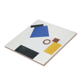 Kazimir Malevich- Two Dimensional Self Portrait Small Square Tile