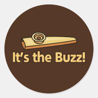 Kazoo Buzz Round Stickers