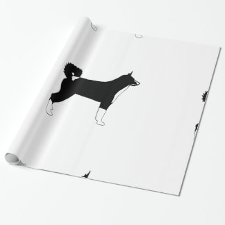 KBD color silhouette Wrapping Paper