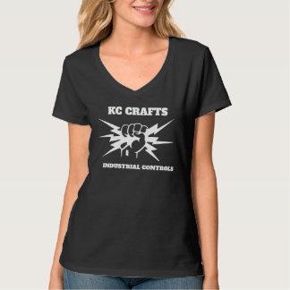 KC Crafts Black V-Nexk T-Shirt