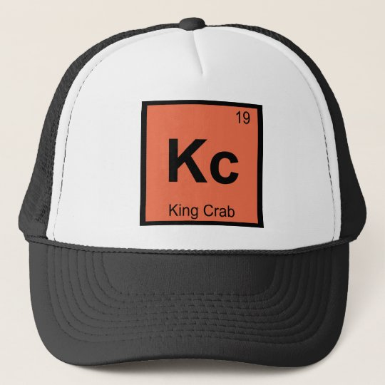 Kc - King Crab Chemistry Periodic Table Symbol