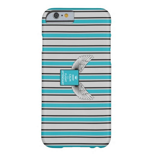 Kciafa backward gray and blue with stripes barely there iPhone 6 case