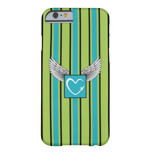 Kciafa soon green and blue stripes barely there iPhone 6 case
