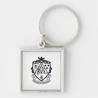 KD Crest Silver-Colored Square Key Ring