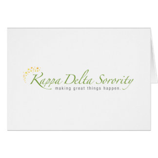 KD Sorority Logo Card