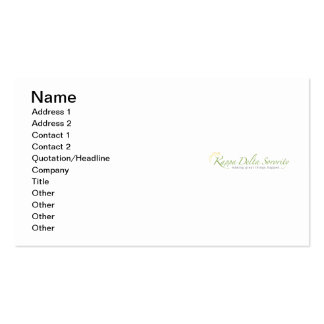 KD Sorority Logo Pack Of Standard Business Cards