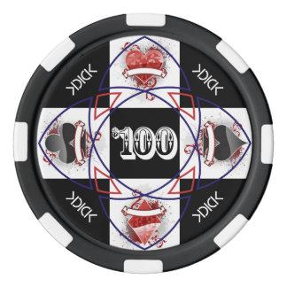 KDICK $100 Poker Chip