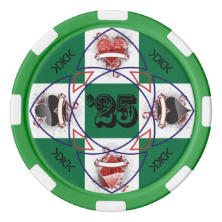 KDICK $25 Poker Chip Poker Chip Set